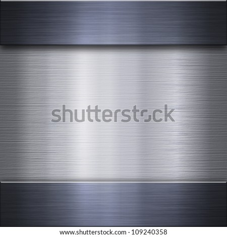 Aluminum background connected with dark steel strips - metal texture - stock photo