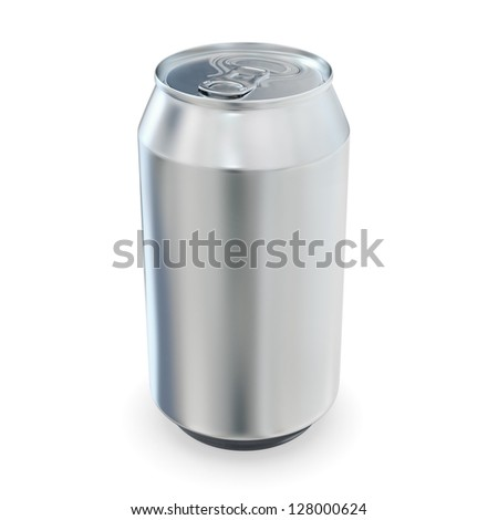 Aluminum beer can -  isolated over white background