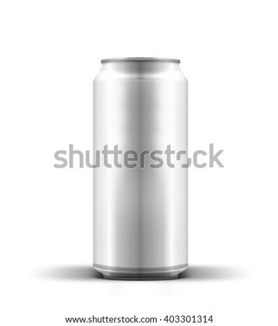 Aluminum beverage can - stock photo