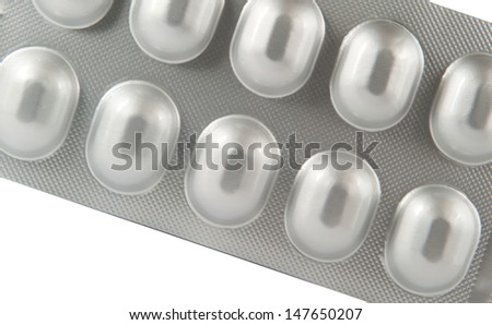 Aluminum blister pack show medicine texture background
