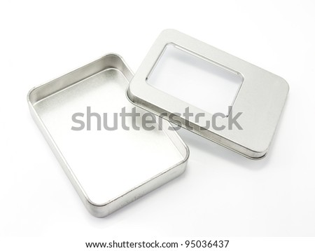 Aluminum box. - stock photo