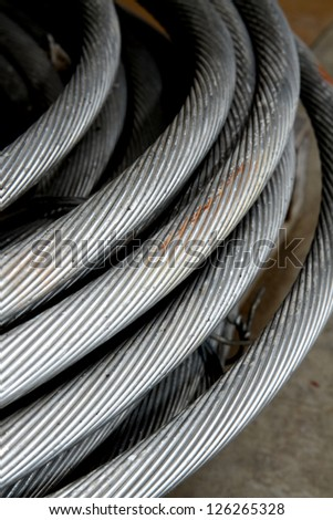 Aluminum cable for electrical conductor cable