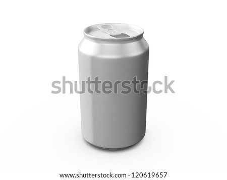 Aluminum cans, isolated on white background.
