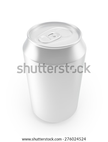 aluminum cans on a white background. 3d illustration - stock photo