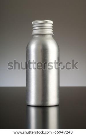 aluminum container - stock photo