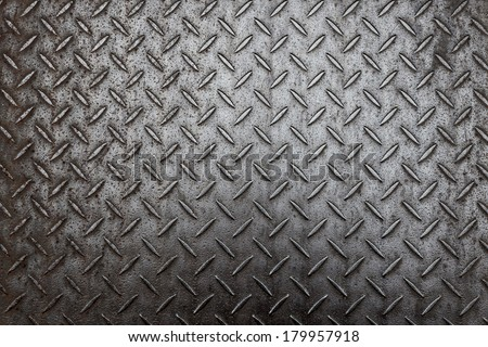 Aluminum dark list with rhombus shapes  - stock photo