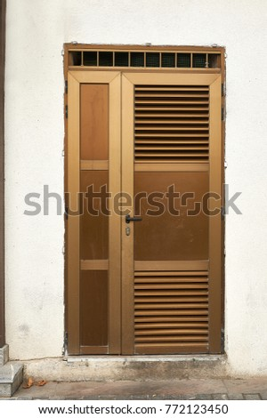 aluminum door with ventilation grilles & Aluminum Door Ventilation Grilles Stock Photo 772123450 - Shutterstock