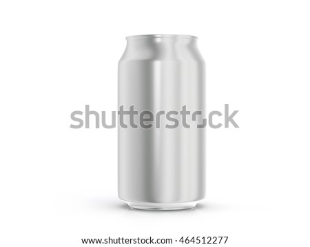 Aluminum drink can on a white background.