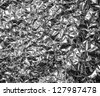 Aluminum foil texture background - stock photo