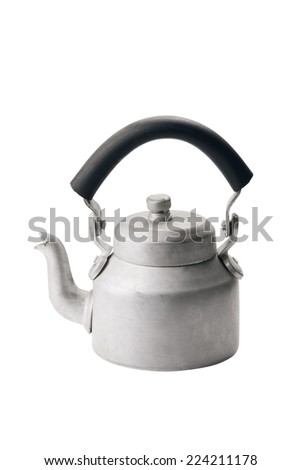 aluminum kettle for Indian masala tea with glass