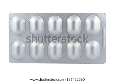 Aluminum of blister pack, Alu-Alu blister pack - stock photo