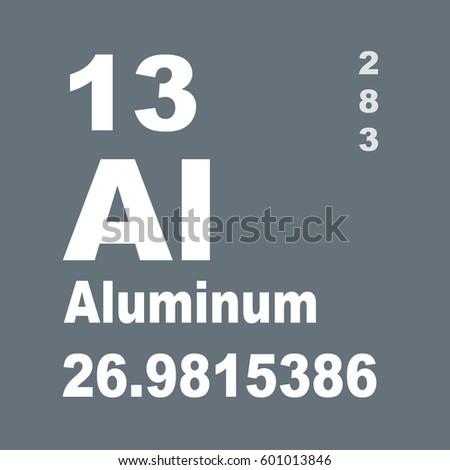 Aluminum Periodic Table Elements Stock Illustration 601013846