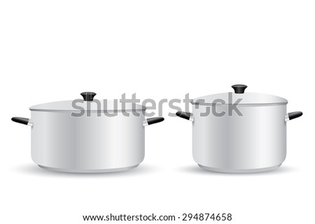 Aluminum Pot - stock photo