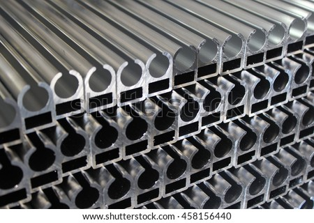 aluminum profiles stock photo edit now 458156440 shutterstock. Black Bedroom Furniture Sets. Home Design Ideas