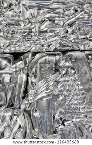 Aluminum recycling - stock photo