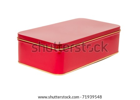 Aluminum red box - stock photo