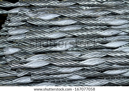 Aluminum rod for armor rod cable