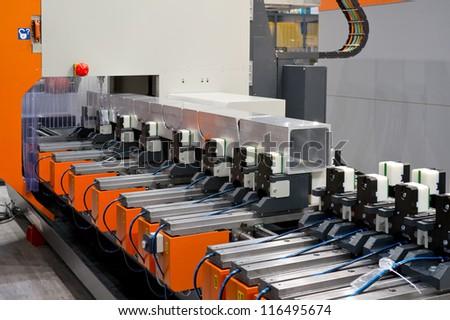 aluminum sawing - stock photo