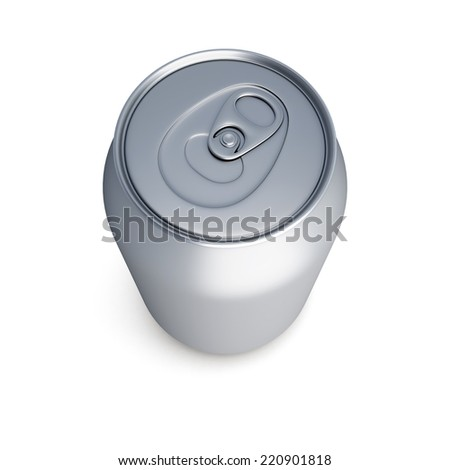 aluminum soda can isolated on white background. Template can for design. 3d render image. - stock photo