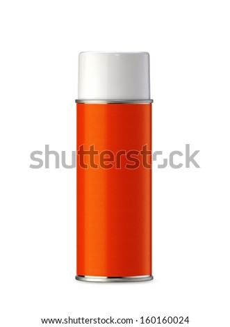 Aluminum spray can, you can use it as painting spray can or Insecticide can. (with clipping work path) - stock photo