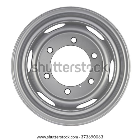 Aluminum wheel rim on the white background
