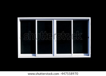 aluminum window frame isolated on a black background