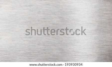 Alumnium list plate - stock photo