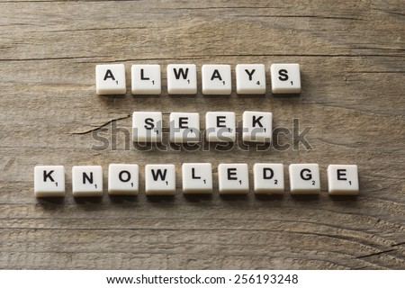 Always Seek Knowledge, business concept acronym - stock photo