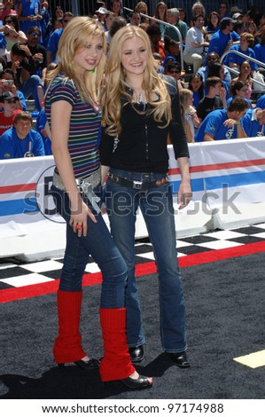 ALY & AJ MISCHALKA at the the world premiere, on Hollywood Boulevard, of Walt Disney Pictures' Herbie: Fully Loaded. June 19, 2005 Los Angeles, CA  2005 Paul Smith / Featureflash - stock photo