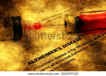 Alzheimer disease - stock photo