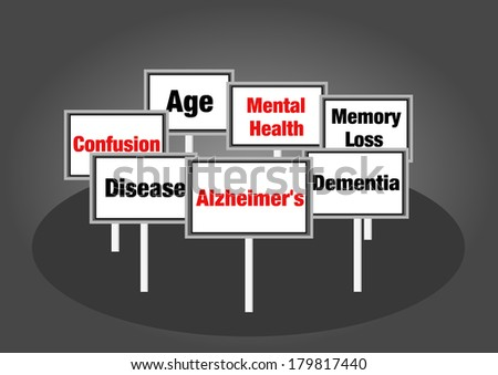 Alzheimer's signs - stock photo