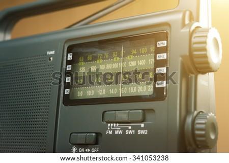 AM FM Radio - stock photo