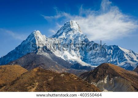 Ama Dablam, Everest region, Nepal - stock photo