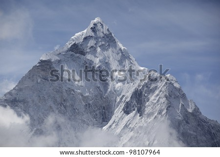 Ama Dablam, Himalaya Range, Nepal. - stock photo