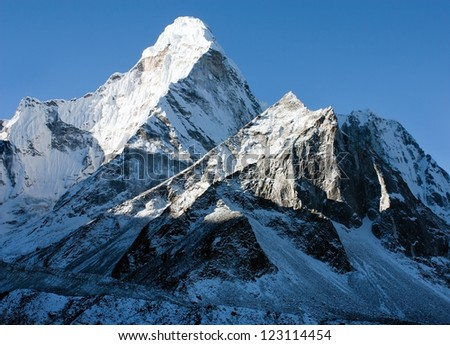 Ama Dablam - way to Everest base camp - Nepal - stock photo