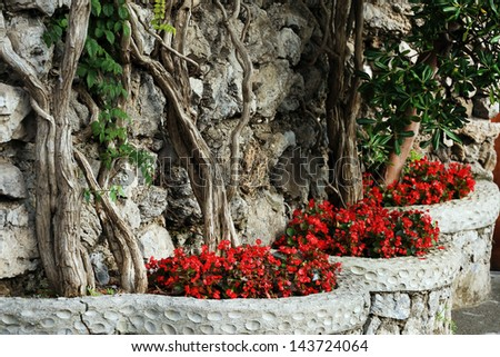 Amalfi architectural detail, Italy, Europe - stock photo