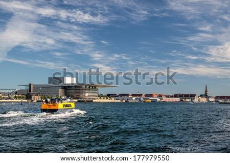 Amaliehaven and new opera in Copenhagen - stock photo