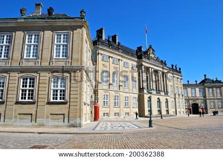Amalienborg Palace, Copenhagen, Denmark - stock photo