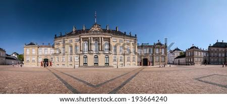 Amalienborg Palace in Copenhagen - stock photo