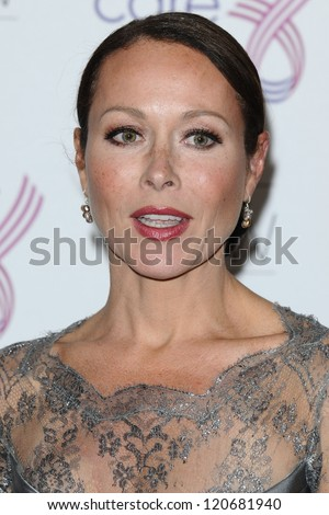 Amanda Mealing arriving for the Breast Cancer Care Fashion Show, Grosvenor House Hotel, London. 02/10/2012 Picture by: Steve Vas