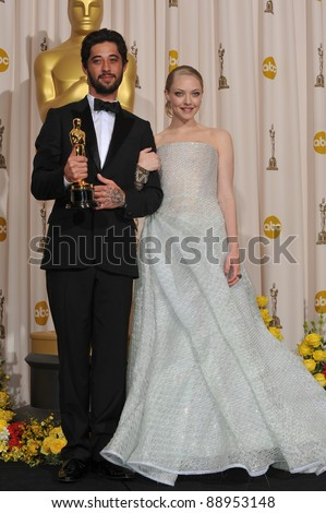 Amanda Seyfried & Ryan Bingham at the 82nd Academy Awards at the Kodak Theatre, Hollywood. March 7, 2010  Los Angeles, CA Picture: Paul Smith / Featureflash