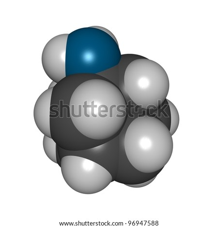 Amantadine flu drug molecule, chemical structure. Amantadine is an antiviral drug used to treat influenza virus infections.