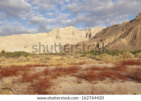 Amargosa River Wilderness Area in Shoshone, NV./Amargosa River/A former gypsum rock mining operation, this desolate  desert gets only a few inches of rain a year and look like it with no plant life.