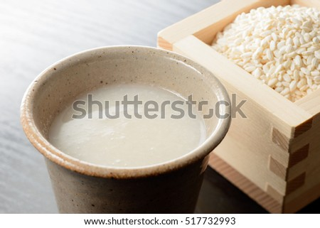 Amazake. sweet drink made from fermented rice.