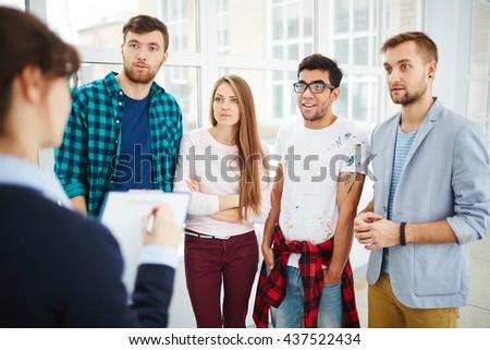 Amazed students - stock photo