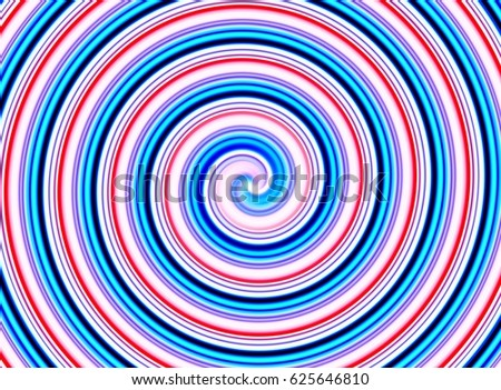 amazing abstract blue, red and white spiral background