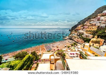 Amazing Amalfi coast. Positano, Italy - stock photo