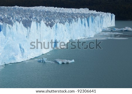 amazing and majestic glacier in southern patagonia - argentina