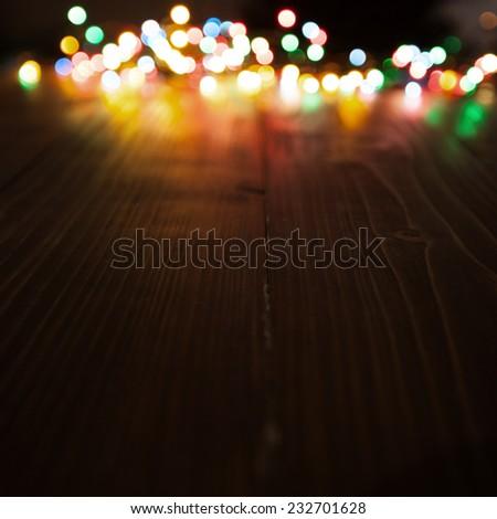amazing bokeh of christmas lights - stock photo
