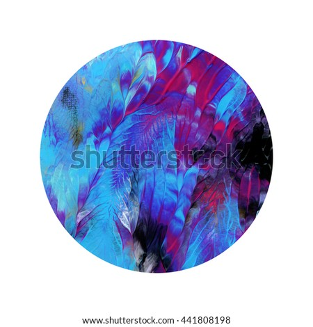 Amazing circle abstract design elements,colorful,hand painted, acrylic